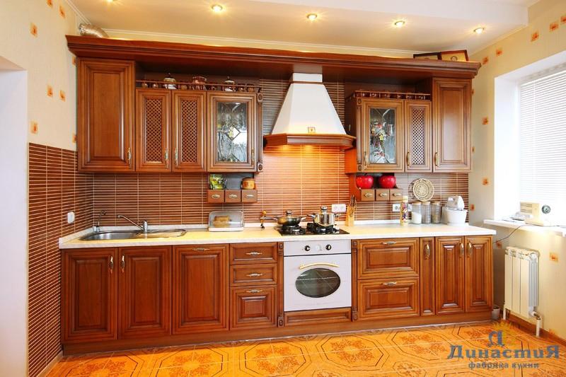 Кухня классика прямая фото